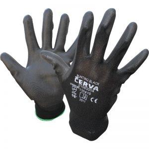Ръкавици потопени в полиуретан